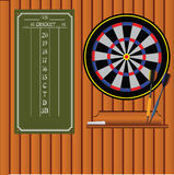 Set of darts with an information stand Stock Photos