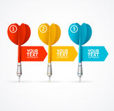 Set of darts option banner. Vector Stock Photo