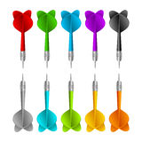 Set of darts. Vector color game concept Royalty Free Stock Images