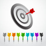 Set of darts. Vector color game concept Royalty Free Stock Photos