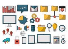 Set of data analysis symbols. Vector illustration graphic design Royalty Free Stock Photography