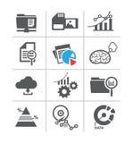 Set data icon and memory. Royalty Free Stock Photos