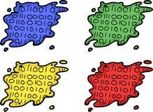 Set of Data Leak Symbols Stock Photo