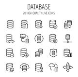 Set of database icons in modern thin line style. Royalty Free Stock Photo