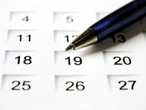 Set a date 1 Royalty Free Stock Photo