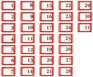 Set of dates Stock Photos