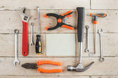 Set of dcarpentry tools Stock Photos