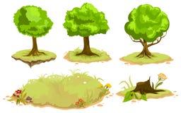 Set of deciduous trees Royalty Free Stock Photo