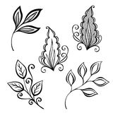 Set of Deco Leafs Stock Photography