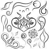 Set decor elements doodle Royalty Free Stock Photos