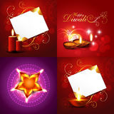 Set of decorated diwali holiday background royalty free illustration