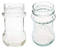 Set of decorated glass jar isolated on white Royalty Free Stock Image
