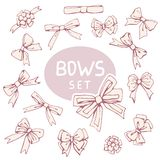 Set Decoration Bow Stock Image
