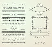 Set of decoration elements Stock Images