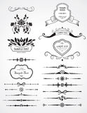 Set of decoration elements. Set of decoration ornamental elements Stock Image