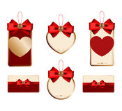 Set for decoration of holiday discounts Stock Photo