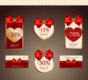 Set for decoration of holiday discounts Royalty Free Stock Photography