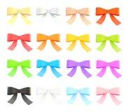 Set of decorational ribbon bows Royalty Free Stock Image