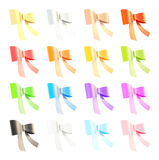 Set of decorational ribbon bows Stock Images