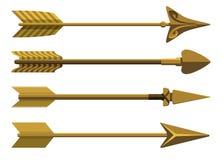 Set of decorative arrows. Royalty Free Stock Photo