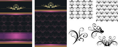 Set of decorative backgrounds for design Stock Images