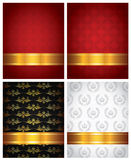 Set of decorative backgrounds Royalty Free Stock Photos