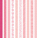 Set of decorative banners. lace trims. Stock Images