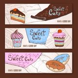 Set of decorative banners Stock Images