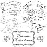Set of decorative banners. Decorative vintage banners , design elements stock illustration
