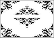 Set of decorative black frames Stock Images