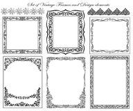 Set of Decorative borders and frames. Stock Photography