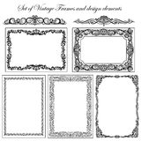 Set of Decorative borders and frames. Stock Image