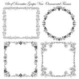 Set of Decorative borders and frames. Royalty Free Stock Photo