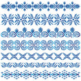 Set of decorative borders. Illustrated set of different decorative border designs isolated on white background Stock Photos