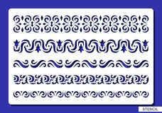 Set of decorative borders. vector illustration