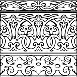 1 Set of decorative borders vintage style Royalty Free Stock Images