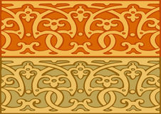 3 Set of decorative borders vintage style gold Royalty Free Stock Image