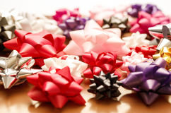 Set of decorative bows Royalty Free Stock Photography
