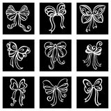 Set of Decorative Bows Royalty Free Stock Images