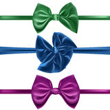 Set of decorative bows, Stock Image