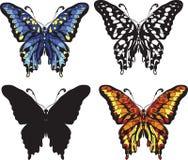 Set of decorative butterflies Royalty Free Stock Photos