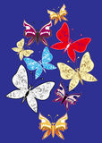 Set of decorative butterflies Royalty Free Stock Images