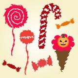 Set of decorative candies Stock Image