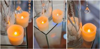 Set decorative candles Stock Images
