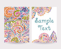 Set of Decorative Cards 2 Stock Image
