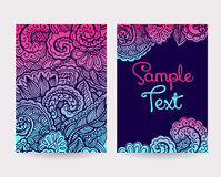 Set of Decorative Cards Stock Photo