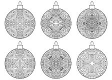 Set of decorative Christmas balls. Stock Images