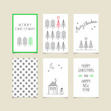 Set of decorative christmas cards. Vector illustration Royalty Free Stock Photos