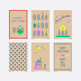 Set of decorative christmas cards. Vector illustration Royalty Free Stock Photography