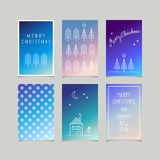 Set of decorative christmas cards. Vector illustration Royalty Free Stock Image